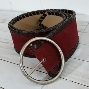 Nine West Wine Colored Leather Belt